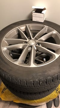 gray 5-spoke vehicle wheel and tire Kelowna, V1X