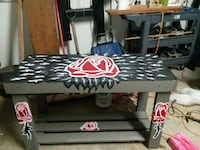 Small Decorated wooden table El Paso