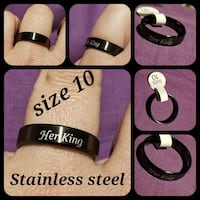 Stainless steel men's black band ring size 10 Queen Creek, 85140