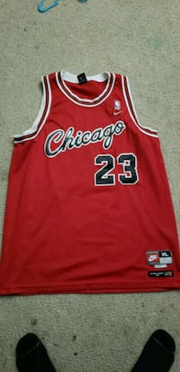 red and white Cleveland Cavaliers 23 jersey 1367 mi