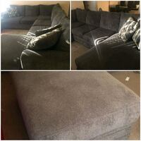 Grey sectional with ottoman Smyrna