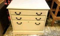 white wooden 3-drawer file cabinet Oklahoma City, 73114