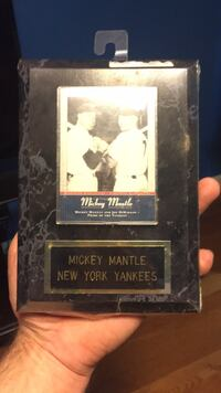 Mickey mantle plaque ... mounted upper deck card Agawam, 01001