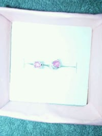 Sterling silver and Ruby post earrings Bon Secour, 36511