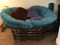 (2) Pier 1 double papasan chairs w/cushions   Catonsville, 21228