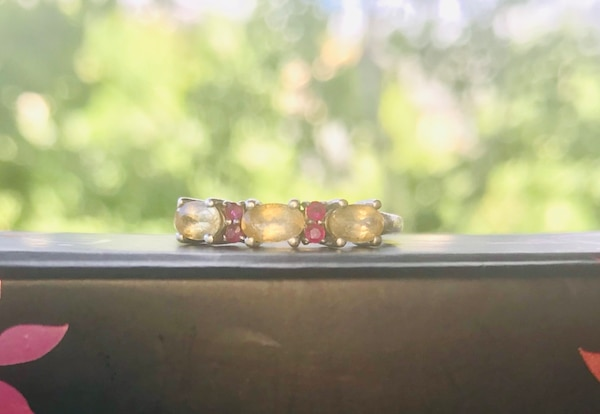 Ruby Ring with Imperial Topaz best offer 96ebaffd-d364-496b-9a68-c70a557e8429