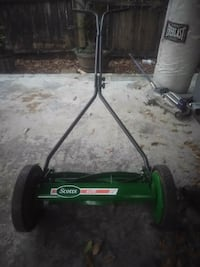 green and black Scotts reel mower Tampa, 33603