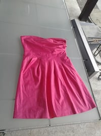 women's pink strapless dress