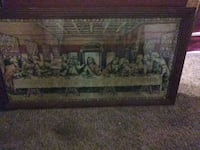 Rug in picture frame(the last supper)