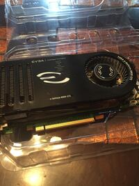 black EVGA graphics card