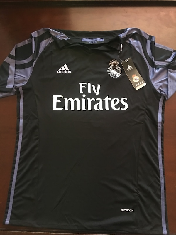d8533f45d3e Used black and purple Adidas fly emirates t-shirt for sale in San ...