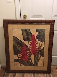 "Artwork  Brand New Large Custom Framed Print ""Tropical Heliconia"" Wall Art  Lansdowne"