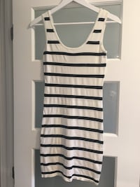 White and black stripe dress Dollard-Des Ormeaux