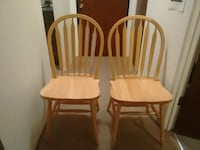2 new beautiful oak kitchen chairs Burnaby, V5E 1K5