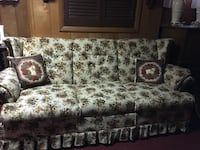 brown and white floral 3-seat sofa Utica, 13501