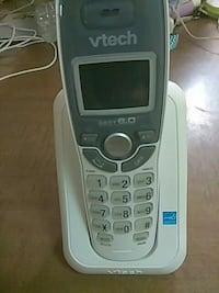 white VTech wireless telephone