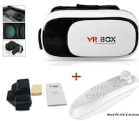 white and black VR Box headset Montreal, H3X