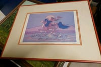 NATIVE AMERICAN PRINT SIGNED AND FRAMED  Johnstown, 80534