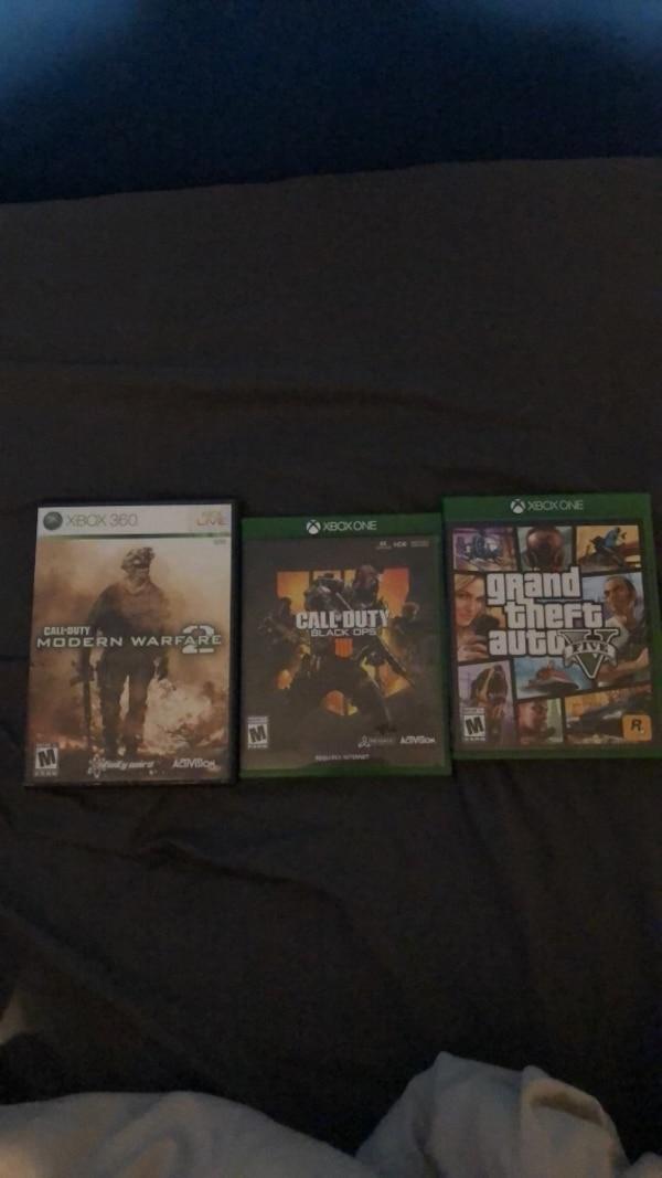 3 Xbox One games, 25 for MW2 and GTA V, Cod $40