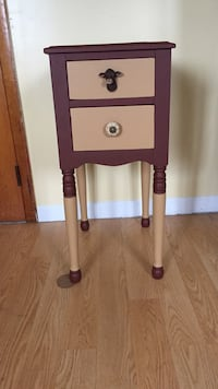 purple and white wooden side table Lackawanna, 14218