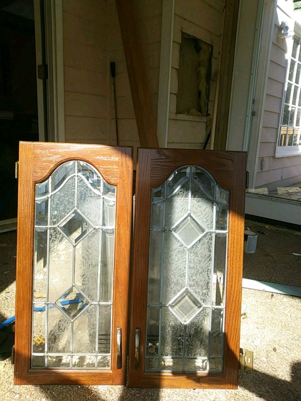 Used Leaded Glass Cabinet Doors For Sale In Snellville Letgo