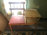 Vintage Telephone table gossip chair