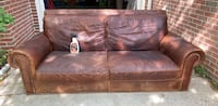 Brass and alligator leather high end sofa Alexandria, 22306