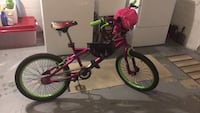 toddler's pink and green bicycle 46 mi