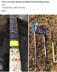 two lacrosse stick and one field hockey stick Gambrills, 21054