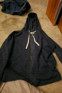 black and white zip-up hoodie Clifton, 20124