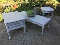 Coffee and 2 Side Tables - French Provincial White Rock, V4B 3T8