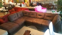New modern brown fabric sectional on sale  Toronto, M9W 1P6