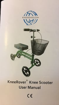 Kneerover knee scooter user's manual