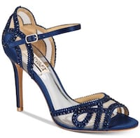 Badgley Mischka Tansy High Heels Navy Satin Size 7 Ashburn, 20147