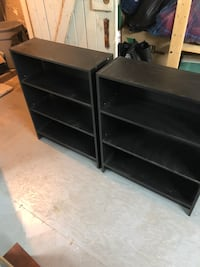 2 matching black bookshelves ($40) Westmount, H3Y 3G2