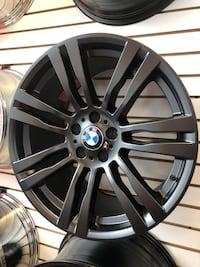 black multi-spoke auto wheel Saddle Brook, 07663