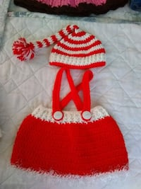 red and white knit cap Lakeland