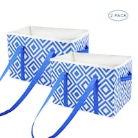 *2* INSULATED FOOD CARRIER REUSABLE GROCERY BAG NEW -blue  Rancho Cucamonga