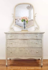 Updated Vintage Dresser/Chest of Drawers w/ Mirror *Statement Piece*  TORONTO