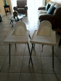 two white and gray high chairs Miami, 33143