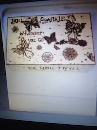 Wood burned keepsake/ jewelry box Moncton, E1C