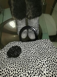 black and white leopard print armchair