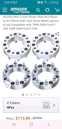 2 inch wheel spacers  Ringgold, 30736