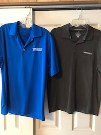 2 Men's Size Medium VM Ware Polo Shirts, Royal Blue & Brown Baltimore, 21236