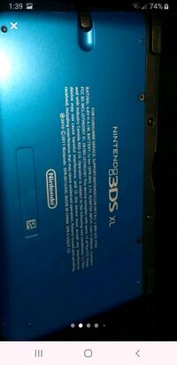 3ds xl  aqua blue bundle with 10 games, screen protectors, charger