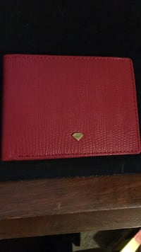 Diamond Supply Co. Red Leather Wallet Charlotte, 28209