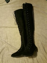 Lace up knee high boots San Diego