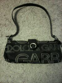 black and grey Dolce & Gabbana shoulder bag