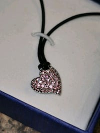 Swarovski Pink Crystal Heart Pendant Necklace St. Catharines, L2P 3E8