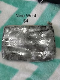 black and white leather wristlet Barrie, L4N